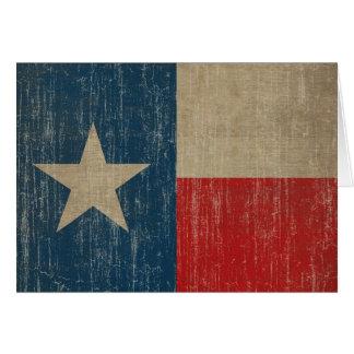 Vintage Texas Flag Card