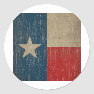 Vintage Texas Flag Classic Round Sticker