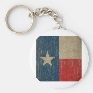 Vintage Texas Flag Keychain