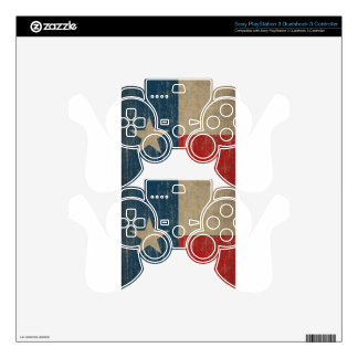 Vintage Texas Flag PS3 Controller Decal