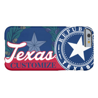 Vintage Texas Flag Seal Patriotic Barely There iPhone 6 Case