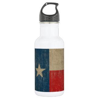 Vintage Texas Flag Stainless Steel Water Bottle