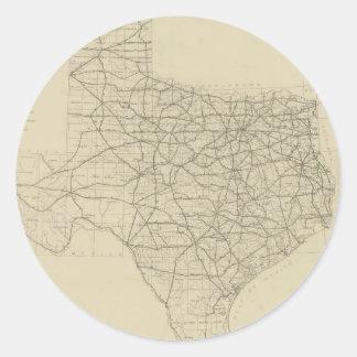 Vintage Texas Highway Map (1919) Classic Round Sticker