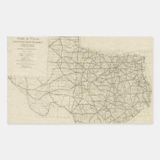 Vintage Texas Highway Map (1919) Rectangular Sticker