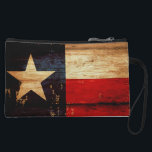 "Vintage Texas State Flag in Rustic Wooden Grunge Wristlet Wallet<br><div class=""desc"">Decorate your bag in style with this Vintage Texas State Flag in Rustic Wooden Grunge design. Custom Wristlet Clutch is a great every day bag to take you through your day! You can personalize your wristlet by adding your initials or customize it with a message to give as a gift...</div>"