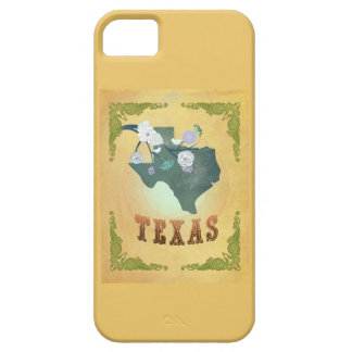 Vintage Texas State Map- Passion Fruit Yellow iPhone 5 Case