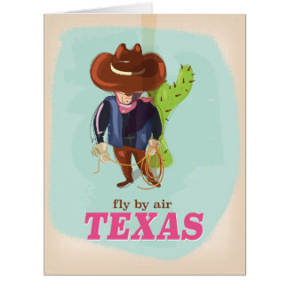 Vintage Texas travel poster Card