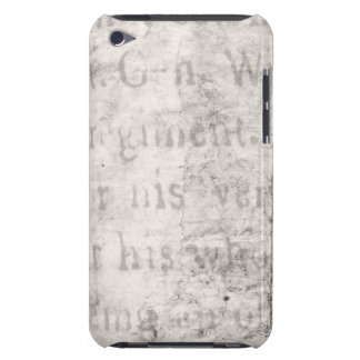 Vintage Text 1700 Background Paper Template Blank iPod Case-Mate Cases