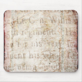 Vintage Text 1700 Background Paper Template Blank Mouse Pads