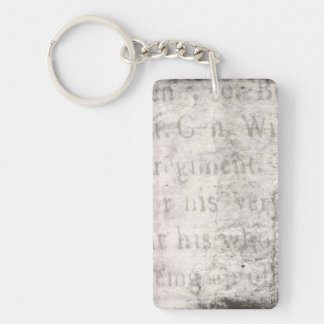 Vintage Text 1700 Background Paper Template Blank Single-Sided Rectangular Acrylic Keychain