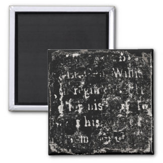 Vintage Text Black Background Paper Template Blank Refrigerator Magnets
