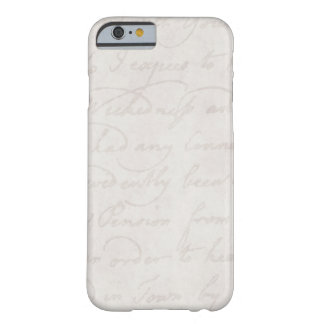 Vintage Text Colonial Background Paper Template Barely There iPhone 6 Case