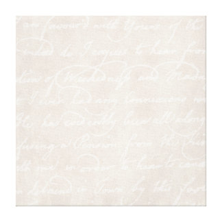 Vintage Text Colonial Background Paper Template Canvas Print