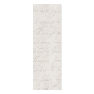 Vintage Text Colonial Background Paper Template Mini Business Card