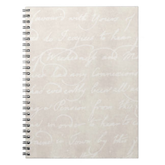 Vintage Text Colonial Background Paper Template Notebook