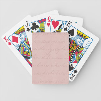 Vintage Text Colonial Rose Parchment Paper Bicycle Playing Cards