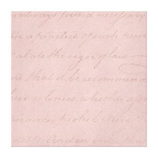 Vintage Text Colonial Rose Parchment Paper Canvas Print