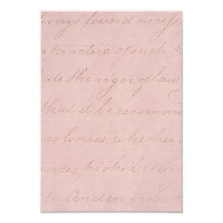 Vintage Text Colonial Rose Parchment Paper Card