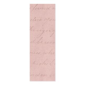 Vintage Text Colonial Rose Parchment Paper Mini Business Card