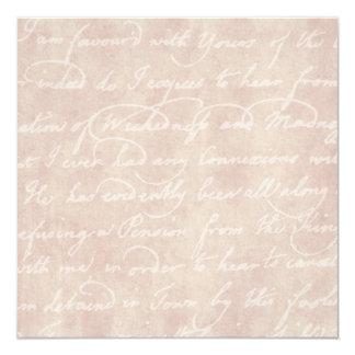 Vintage Text Colonial Script Parchment Paper Card