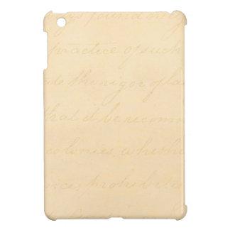 Vintage Text Colonial Script Parchment Paper iPad Mini Cover