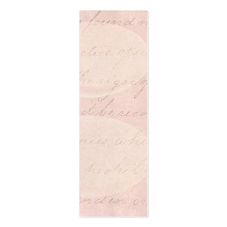 Vintage Text Colonial Script Parchment Paper Mini Business Card