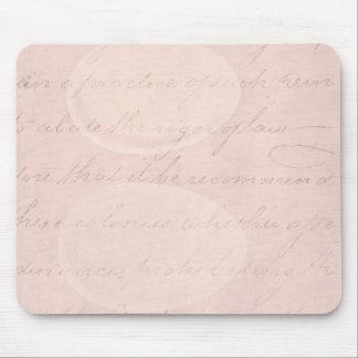 Vintage Text Colonial Script Parchment Paper Mouse Pad