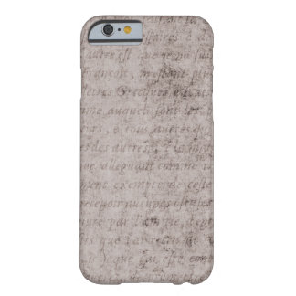 Vintage Text French Background Paper Template Barely There iPhone 6 Case