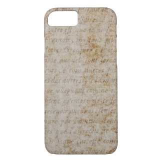 Vintage Text French Background Paper Template iPhone 8/7 Case