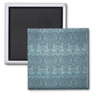 Vintage Textile Pattern Brer Rabbit William Morris 2 Inch Square Magnet