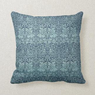 Vintage Textile Pattern Brer Rabbit William Morris Throw Pillows