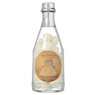 Vintage Texture Gay Valentine Champagne Bottle Gum