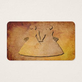 Vintage Texture Gay Wedding Bridal Business Card
