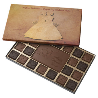 Vintage Texture Lesbian Wife Valentine Chocolates