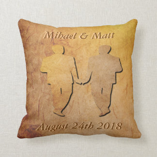 Vintage Texture Pillow Gay Wedding Gift for Men