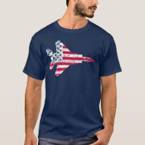 Vintage Textured American Flag Strike Eagle T-Shirt