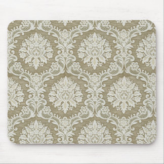 Vintage Textured Brocade, Damask and Tapestry Mouse Pad