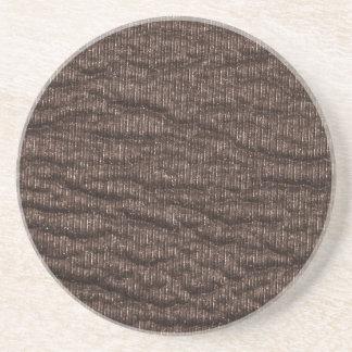 Vintage Textured Brown Leather Drink Coaster