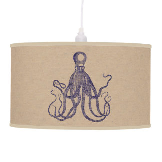 Vintage Textured Octopus faux craft Ceiling Lamps