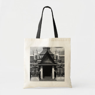 Vintage Thailand Bangkok Wat Phra Kaew Demon Guard Tote Bag