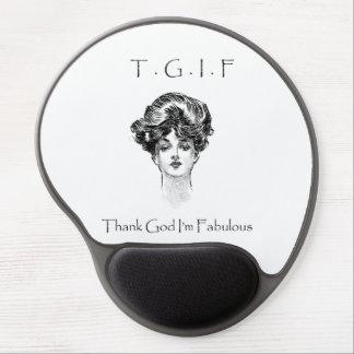 Vintage Thank God I'm Fabulous Gel Mousepad