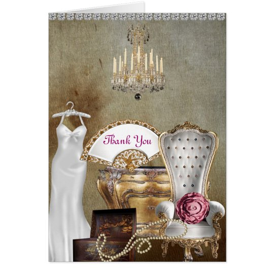 VINTAGE THANK YOU CARD FOR BRIDAL SHOWER