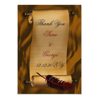 vintage Thank You Card Personalized Announcements