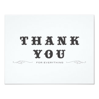 Vintage Thank You Double-Sided Card