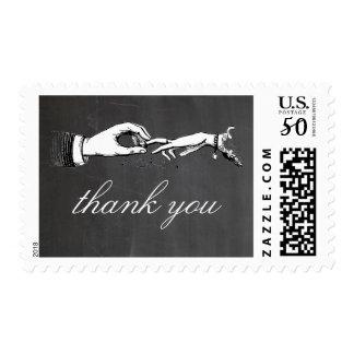 Vintage Thank You Wedding Ring Stamp