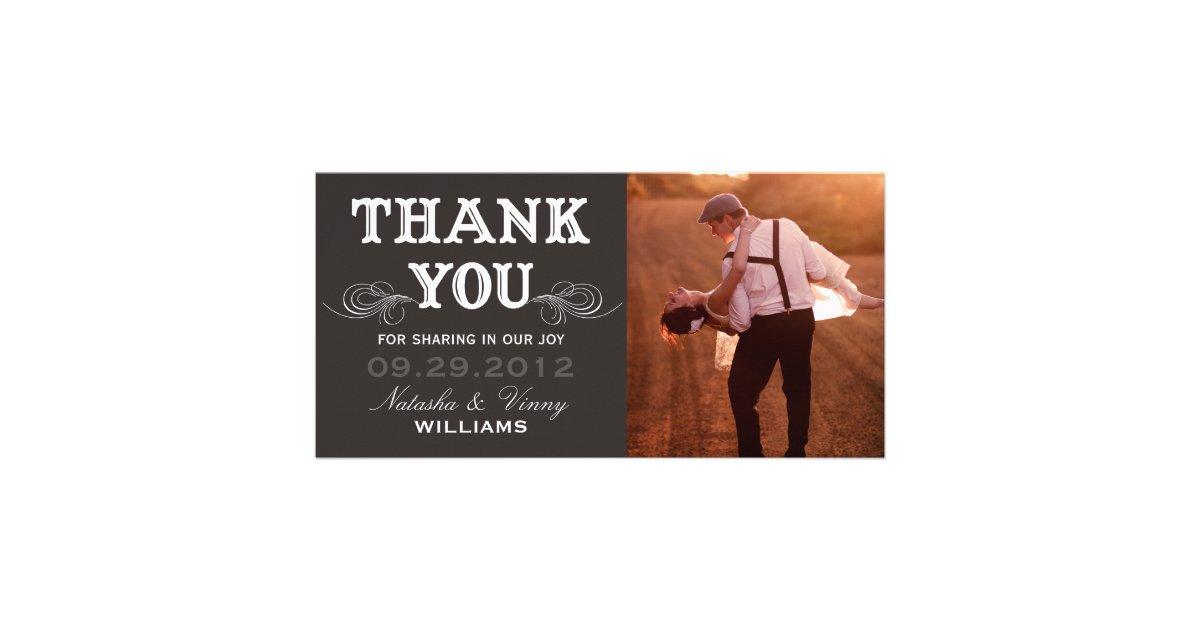 VINTAGE THANK YOU WEDDING THANK YOU CARD