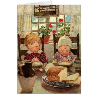 Vintage Thankful Children; Jessie Willcox Smith Greeting Card