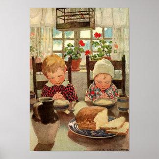 Vintage Thankful Children; Jessie Willcox Smith Poster