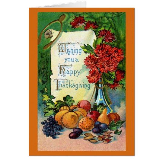 Vintage Thanksgiving Art Card