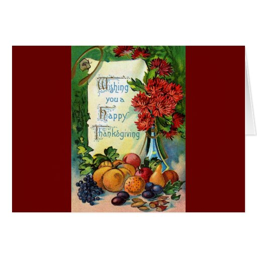 Vintage Thanksgiving Art Greeting Card